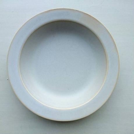 20㎝リム皿 グレージュ