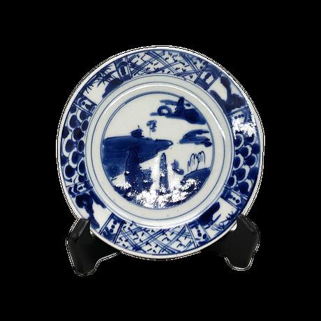 山水丸皿(小)