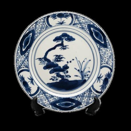 松竹梅丸皿(中)