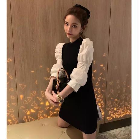Blouse slim dress skirt
