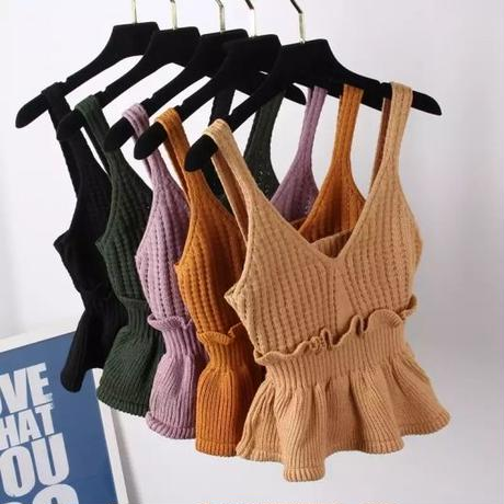 【5colour 】Camisole knit tops