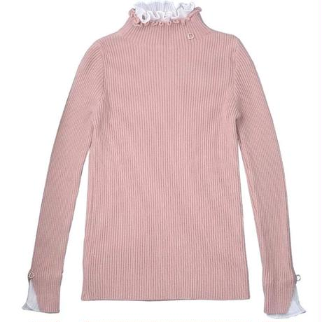 【5colour】pullover one-point tops