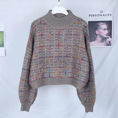 【4colour】tweed tops