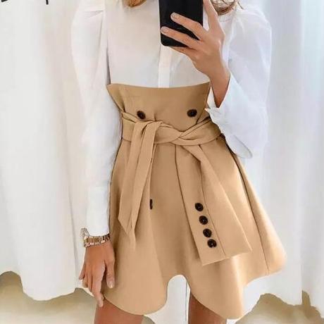 Khaki✖︎Blouse skirt