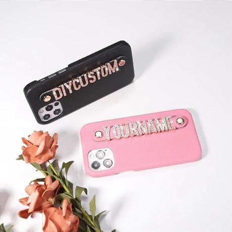 【Rhinestone】高級本革オーダーメイドiPhone case