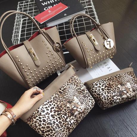 【6colour】FーBag with Leopard Pouch
