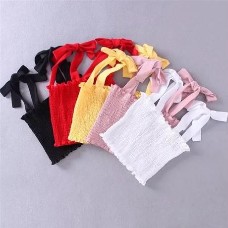 【5colour 】Ribbon tube top