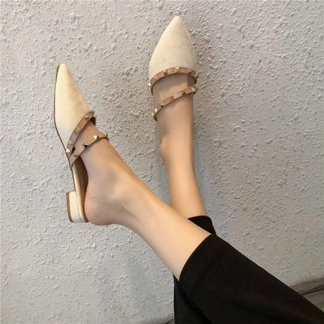 【2colour】flat slipper
