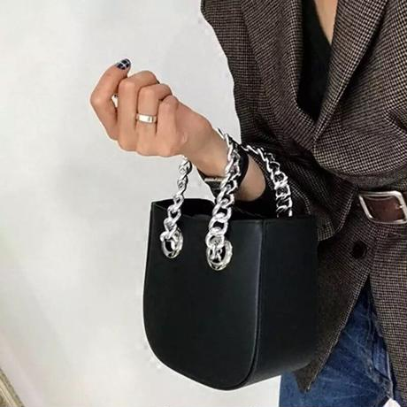 【2colour 】chain leather bag