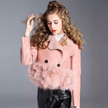 大人気  ファー ジャケット ピンク