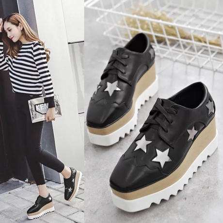 【3colour】star sneakers