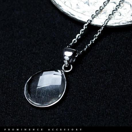 【天然石 | 天然水晶・ドロップ・シルバー925・ペンダント】守護・心身浄化・幸運