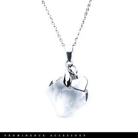 【天然石 | ハートカット・天然水晶・ハートチャームペンダント】守護・心身浄化・幸運・パワーストーン