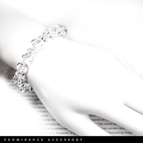 【天然石 | スクリュー天然水晶シンプルブレスレット】守護・心身浄化・魔除け・癒し・パワーストーン