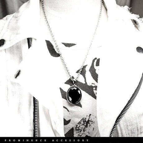 【天然石 | 高品質 | オニキス・シルバー925・燻しチェーンペンダント】守護・事故除け・魔除け・意思の強化・パワーストーン