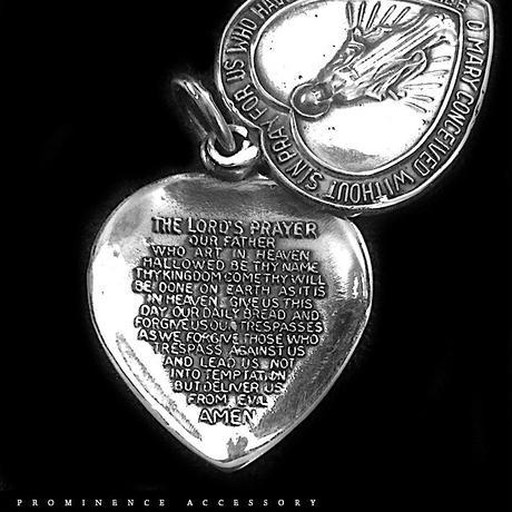 【天然石 |  聖母マリア・メダイ・ロケットタイプ・ハートデザイン・シルバー925・ホピチェーン・ペンダント】守護・ゴシック・アンティーク風・邪気除け・慈愛