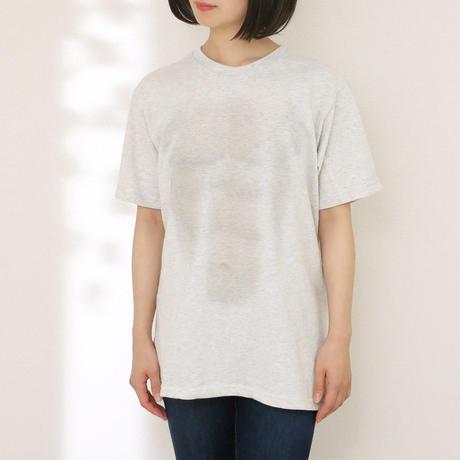 うっすらと筋肉が見える妄想マッピングTシャツ〈オートミール〉