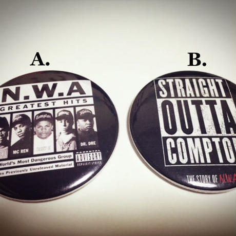 【N.W.A】Straight Outta Compton 缶バッチ8種!!!