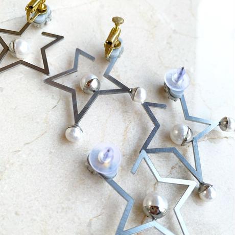Frame Star  pierce/earring (silver)