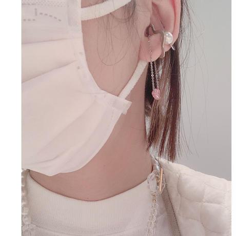 frill  chain Ear Cuff
