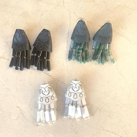 leaather lace  Tassel    pierce/earring