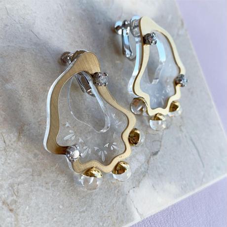 acrylic shell pierce/earring (clear)