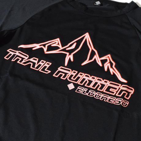 Trail Runner Raglan T(Black)