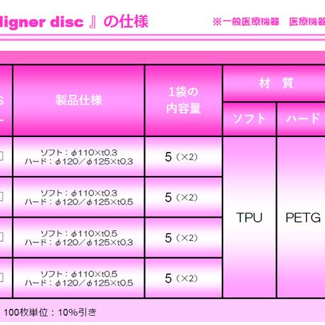 Φ125×t0.8(TPU/PETG)2層式マウスピースアライナーディスク E.tec-Aligner disc DLCF-AR08L 100枚入り