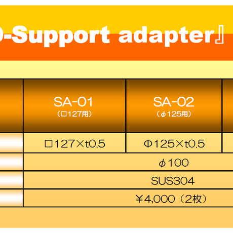マウスピース(ガード)成形用 サポートアダプタ □127用 SA-01 2枚入り