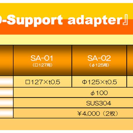 マウスピース(ガード)成形用 サポートアダプタ φ125用 SA-02 2枚入り