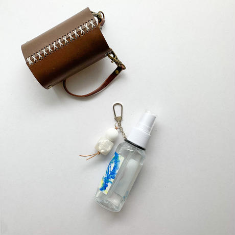lace up handwash holder ビーズリング付き