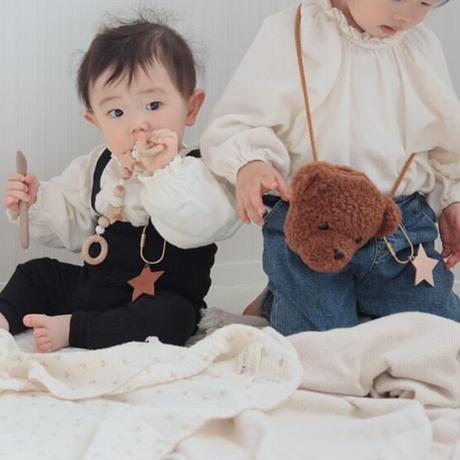 [真鍮リング] little star leather name tag