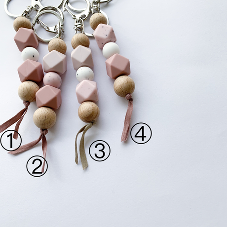 Key rings / pink series