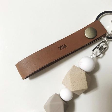 Leather strap  - 名入れ可能 -