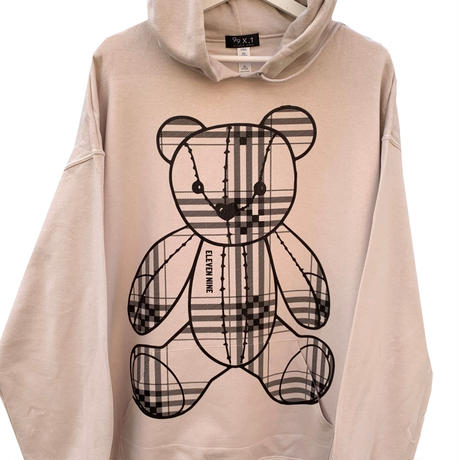 Eleven Nine / パーカー/ Teddy bear  /Plaid / ベージュ