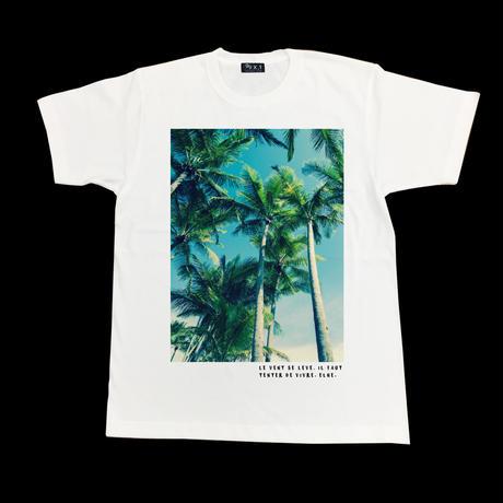 Eleven Nine / Tシャツ/ Palm tree/ホワイト