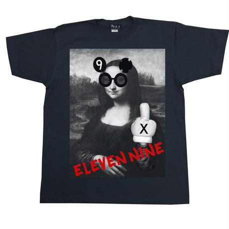 Eleven Nine / Tシャツ/  fuck  / モナリザ  / ブラック