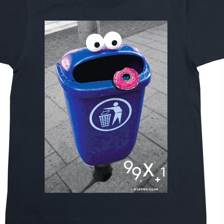 Eleven Nine / Tシャツ/Garbage can  cookie   ブラック
