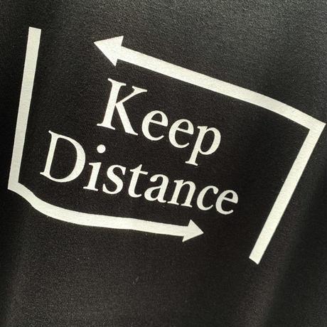 Eleven Nine / Tシャツ/ rogo  /keep Distance /white ブラック