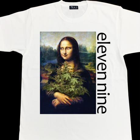 Eleven Nine / Tシャツ/   leaf / モナリザ  / ホワイト