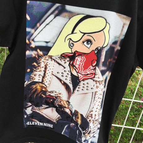 Eleven Nine / Tシャツ/ Riders  bandana  ブラック