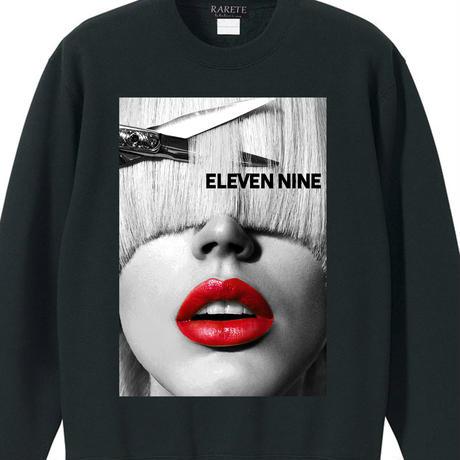 Eleven Nine / トレーナー/ ハサミ  lips  /ブラック