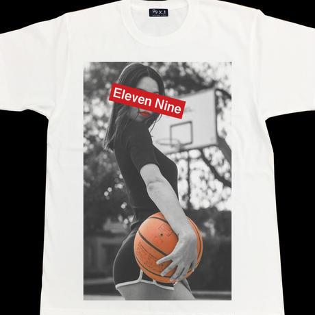 Eleven Nine / Tシャツ/  girl  basketball BoxRogo  /ホワイト