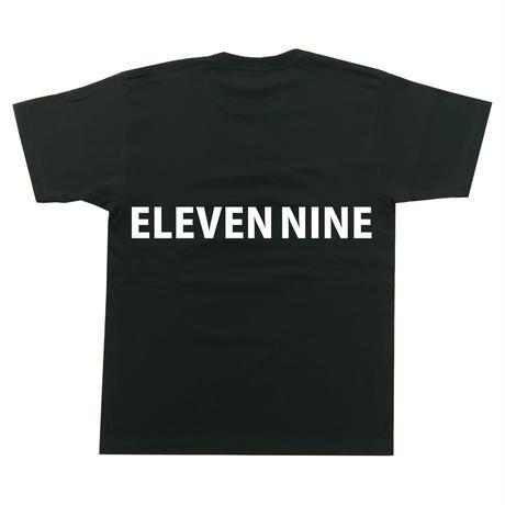 Eleven Nine / Tシャツ/ long   Rogo  back /ブラック