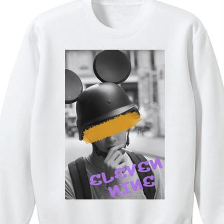 Eleven Nine / トレーナー/ Helmet Man /ホワイト