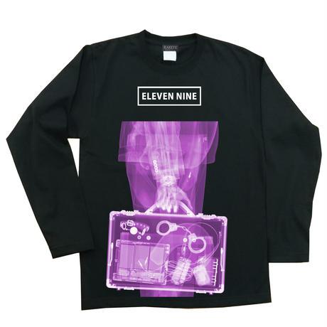 Eleven Nine / ロングTシャツ/  X-ray /  Bag  /ブラック