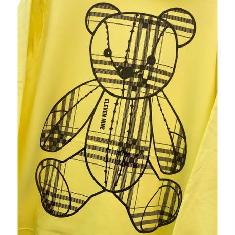 Eleven Nine / パーカー/ Teddy bear /Plaid /イエロー
