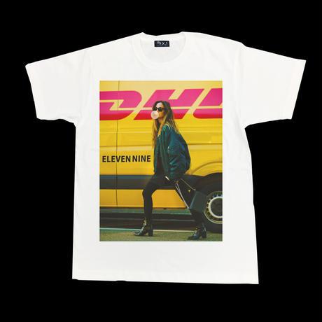 Eleven Nine / Tシャツ/  girl  yellow  /ホワイト