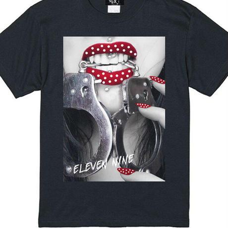 Eleven Nine / Tシャツ/ handcuff Polka dot/ブラック