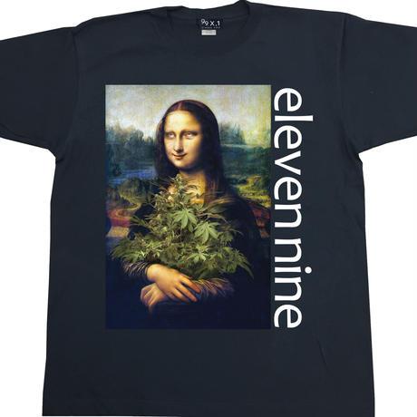Eleven Nine / Tシャツ/   leaf / モナリザ  / ブラック